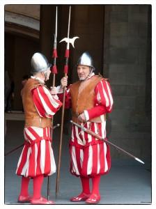 Florenz - Landsknechte bewachen das Rathaus