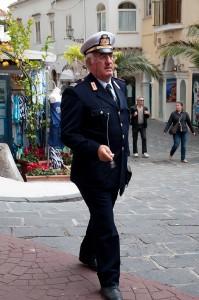Straßenverkehrspolizist in Positano