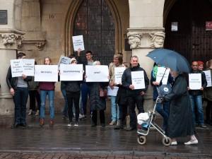 Demo vor dem Münster Rathaus