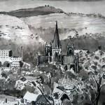Trondheim mit Blick auf den Nidarosdom.