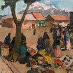 """Toni Farwick """"Markt in Mexiko"""""""