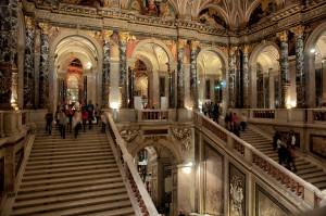 Treppenhaus im Kunsthistorischen Museum