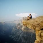 Auf dem Granitfelsen vor dem Half Dome (Yosemite)