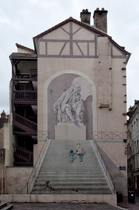 Fassadenmalerei in Chalons