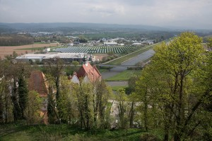 Blick auf die ehemalige Brauerei und Leopoldskanal